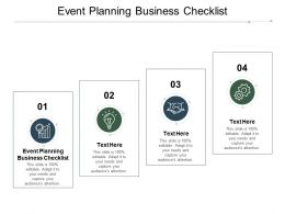 Event Planning Business Checklist Ppt Powerpoint Presentation Ideas Slides Cpb