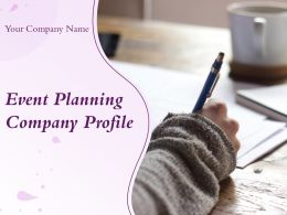 Event Planning Company Profile Powerpoint Presentation Slides