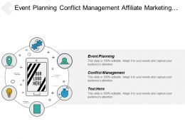 Event Planning Conflict Management Affiliate Marketing Customer Acquisition Cpb
