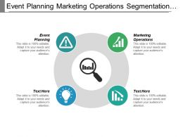 Event Planning Marketing Operations Segmentation Marketing Retail Management Cpb