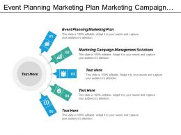 Event Planning Marketing Plan Marketing Campaign Management Solutions Cpb