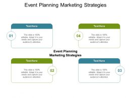 Event Planning Marketing Strategies Ppt Powerpoint Presentation Summary Influencers Cpb