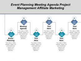 event_planning_meeting_agenda_project_management_affiliate_marketing_cpb_Slide01