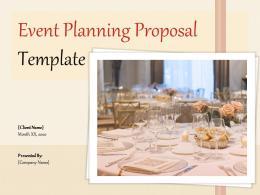 Event Planning Proposal Template Powerpoint Presentation Slides
