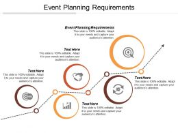 Event Planning Requirements Ppt Powerpoint Presentation File Slide Cpb