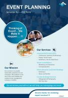 Event Planning Services Two Page Brochure Template