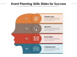 Event Planning Skills Slides For Success