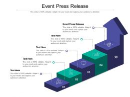 Event Press Release Ppt Powerpoint Presentation Layouts Themes Cpb