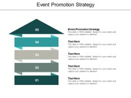 Event Promotion Strategy Ppt Powerpoint Presentation Ideas Slide Cpb
