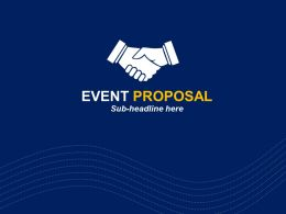 Event Proposal Cover Slide
