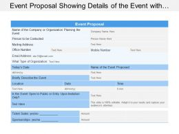 Event Proposal Showing Details Of The Event With Location Data And Time