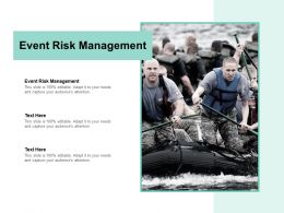 Event Risk Management Ppt Powerpoint Presentation Infographic Template Layouts Cpb