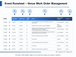 Event Runsheet Venue Work Order Management Type Ppt Powerpoint Presentation Pictures