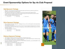 Event Sponsorship Options For Sports Club Proposal Ppt Powerpoint Presentation Slides