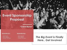 Event Sponsorship Proposal Powerpoint Presentation Slides