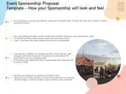 Event Sponsorship Proposal Template How Your Sponsorship Will Look And Feel Ppt File
