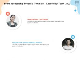 Event Sponsorship Proposal Template Leadership Team L12245 Ppt Powerpoint Visual Aids