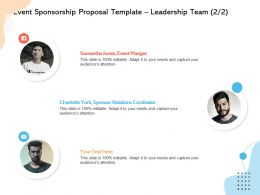 Event Sponsorship Proposal Template Leadership Team L12246 Ppt Powerpoint Example
