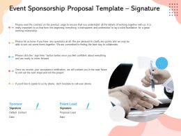 Event Sponsorship Proposal Template Signature Ppt Powerpoint Presentation Styles Show