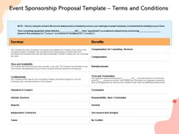 Event Sponsorship Proposal Template Terms And Conditions Ppt Powerpoint Design Ideas