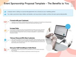 Event Sponsorship Proposal Template The Benefits To You Ppt Powerpoint Model Show