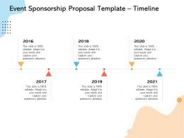 Event Sponsorship Proposal Template Timeline Ppt Powerpoint Presentation Show Design