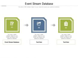Event Stream Database Ppt Powerpoint Presentation File Layout Ideas Cpb