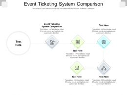 Event Ticketing System Comparison Ppt Powerpoint Presentation Professional Graphics Tutorials Cpb