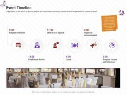 Event Timeline Stage Shows Management Firm Ppt Designs