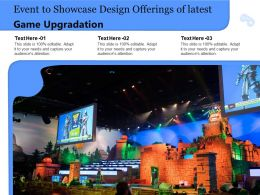 Event To Showcase Design Offerings Of Latest Game Upgradation