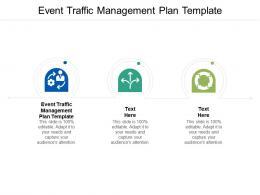 Event Traffic Management Plan Template Ppt Powerpoint Presentation Portfolio Grid Cpb