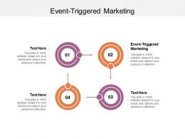 Event Triggered Marketing Ppt Powerpoint Presentation Slides Guide Cpb