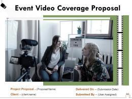 Event Video Coverage Proposal Powerpoint Presentation Slides