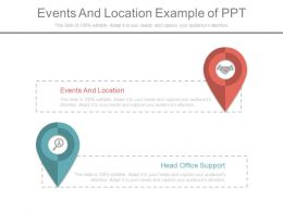 Events And Location Example Of Ppt