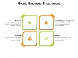 Events Employee Engagement Ppt Powerpoint Presentation Model Outfit Cpb