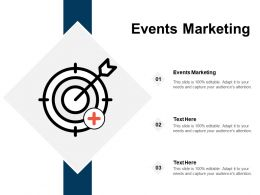 Events Marketing Ppt Powerpoint Presentation Infographic Template Deck Cpb