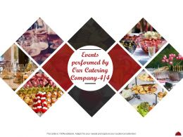 Events Performed By Our Catering Company L2055 Ppt Powerpoint Layouts Model