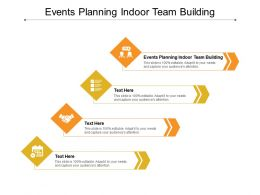 Events Planning Indoor Team Building Ppt Powerpoint Presentation File Structure Cpb