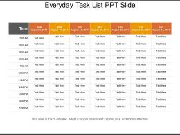 Everyday Task List Ppt Slide