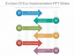 Eviction Of Eco Implementation Ppt Slides