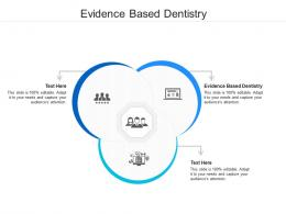 Evidence Based Dentistry Ppt Powerpoint Presentation Icon Infographic Template Cpb
