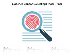 Evidence Icon For Collecting Finger Prints
