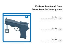 Evidence Icon Found From Crime Scene For Investigation
