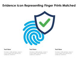 Evidence Icon Representing Finger Prints Matched