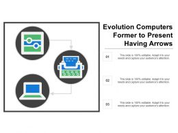 Evolution Computers Former To Present Having Arrows