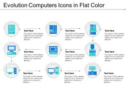 Evolution Computers Icons In Flat Color