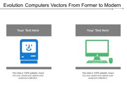 Evolution Computers Vectors From Former To Modern