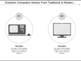 Evolution Computers Vectors From Traditional To Modern Computers