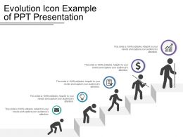 Evolution Icon Example Of Ppt Presentation