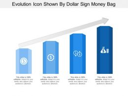 Evolution Icon Shown By Dollar Sign Money Bag